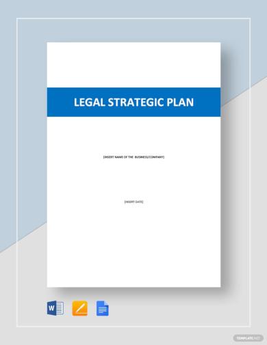 paid legal strategic plan template