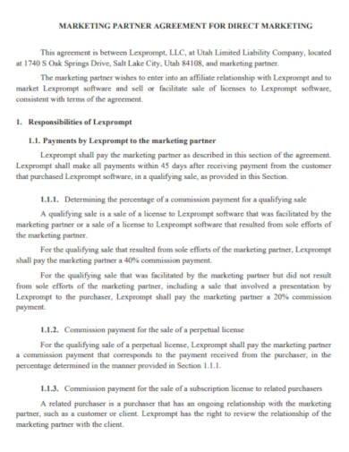 partnership-agreement-for-direct-marketing