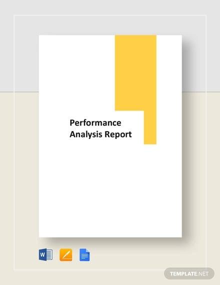 performance analysis report template