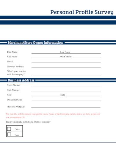 personal profile survey in pdf
