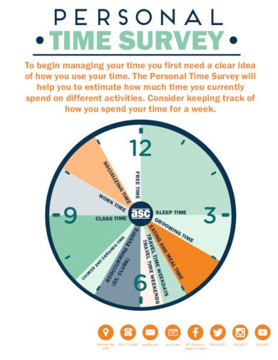 personal time survey template