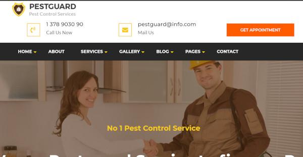 pestguard 3 home pages wordpress theme