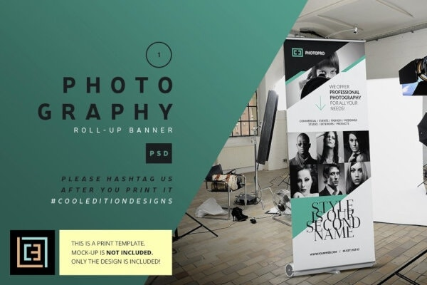 photography advertisement roll up banner