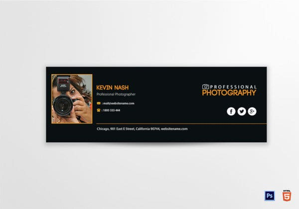 photography email signature template download