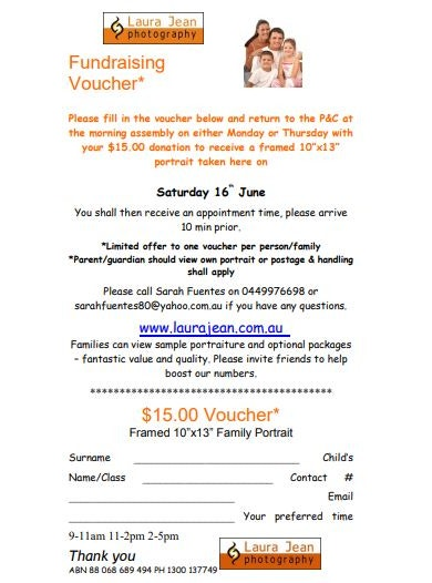 photography fundraising voucher template
