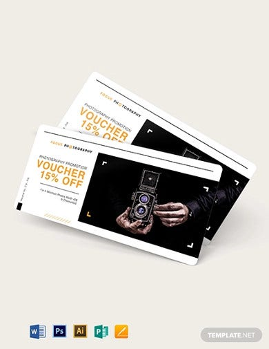 photography promotion gift voucher template1