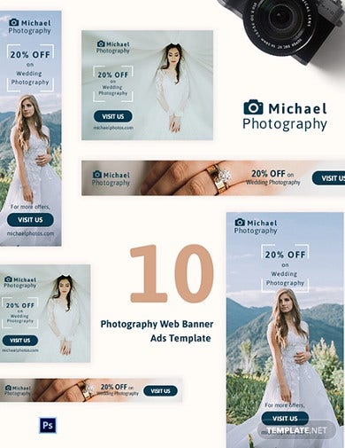 photography web banner ads template1