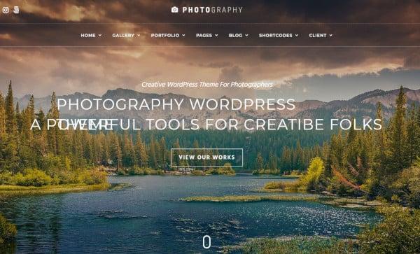 photography woo commerce integration wordpress theme