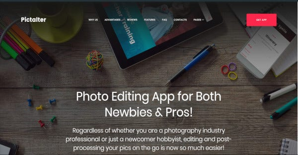 pictalter drag and drop wordpress theme