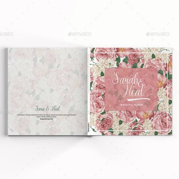 pink peonies wedding photobook format
