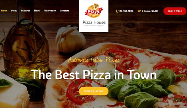 pizza house – e commerce wordpress theme