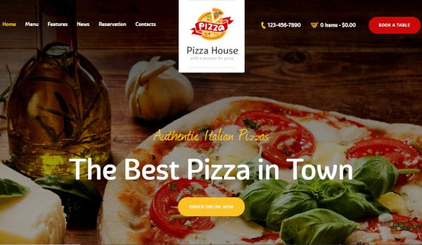 pizza house – e commerce wordpress theme1