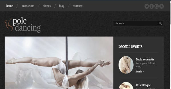 Pole Dancing - Unlimited color WordPress Theme