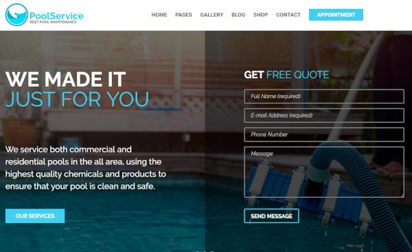pool-service-gpl-unyson-framework-wordpress-theme