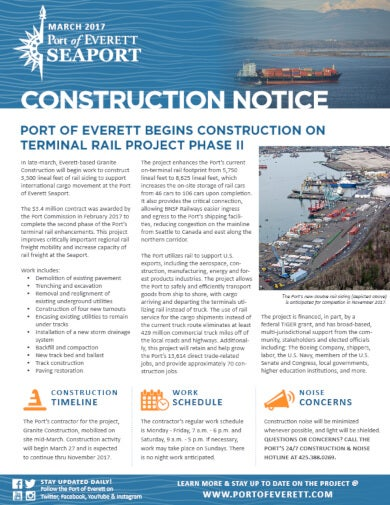port construction notice template