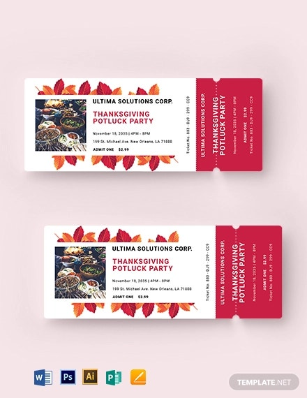 potluck food ticket template