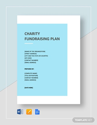 premium charity fundraising proposal template