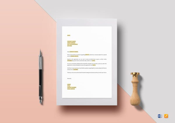 premium extension of lease letter agreement template