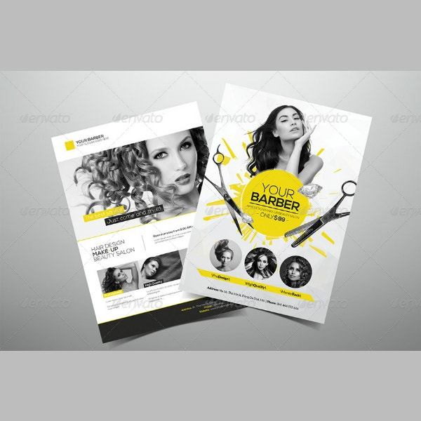 premium hair salon flyer template