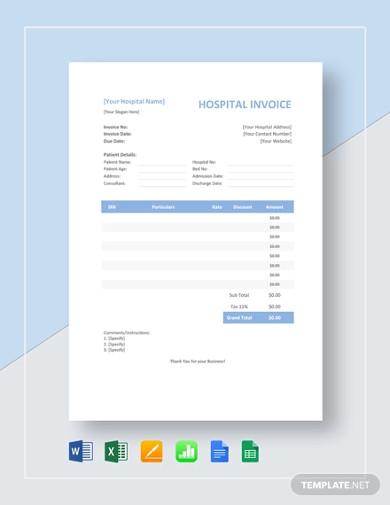premium-medical-invoice-template