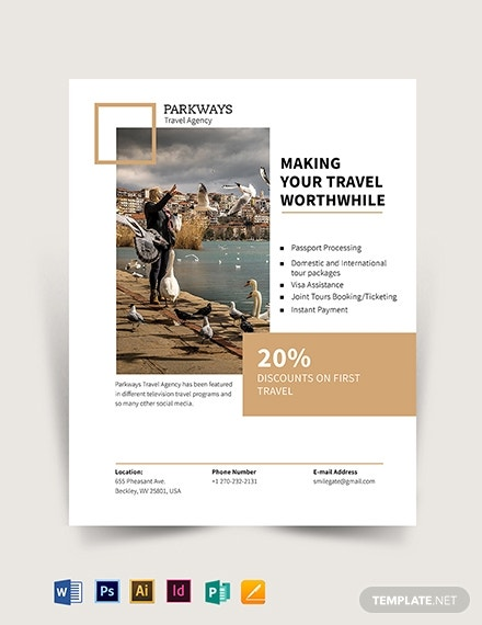 premium modern travel flyer template