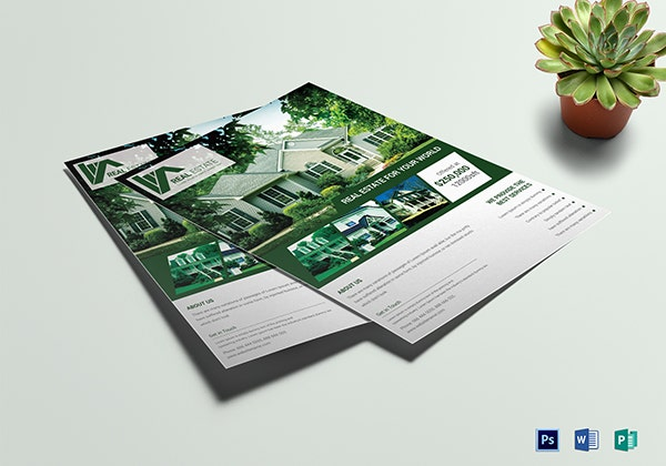 premium real estate sales flyer template