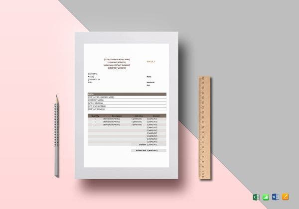 premium sales invoice template