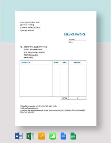 premium service invoice template