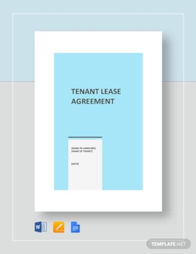 premium tenant lease agreement template