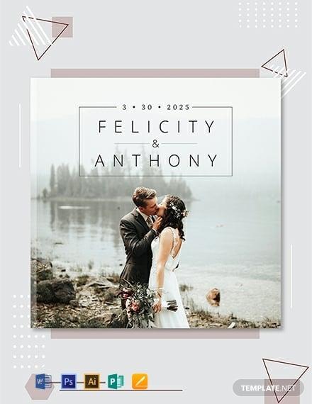 premium wedding photobook cover template