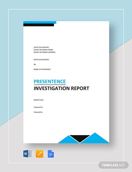 presentence investigation report template