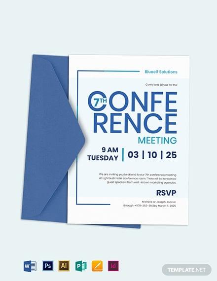 printable conference seminar invitation sample