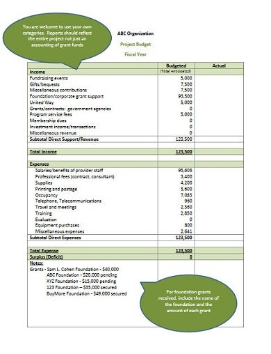 printable fundraising project budget1