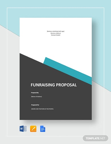 printable fundraising proposal template