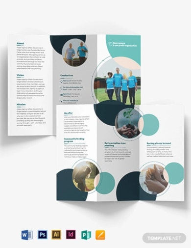 printable fundraising tri fold brochure template