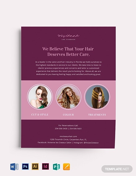 printable hair salon flyer sample