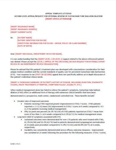 printable medical appeal letter