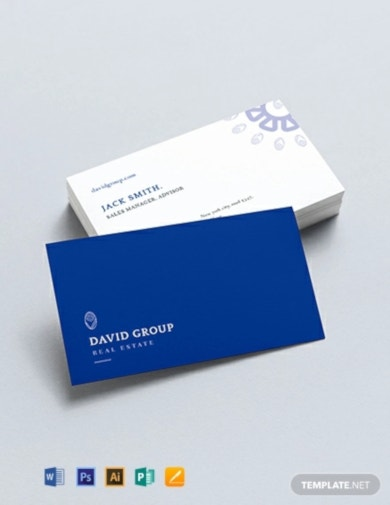 printable real estate business card template