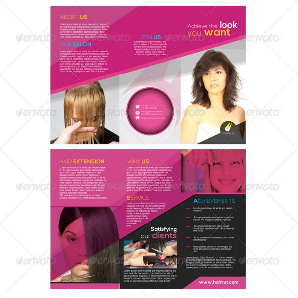 printable salon barbershop brochure template