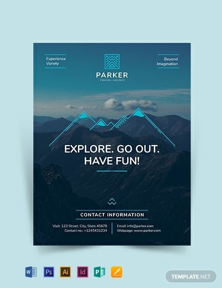 printable travel agency flyer example