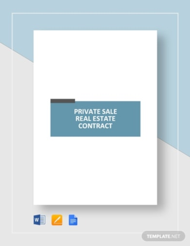 private sale real estate contract template
