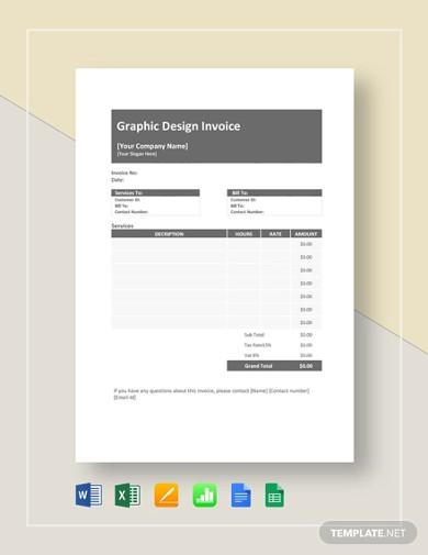 pro graphic design invoice template1