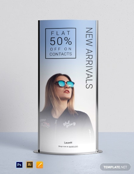 product marketing roll up banner sample