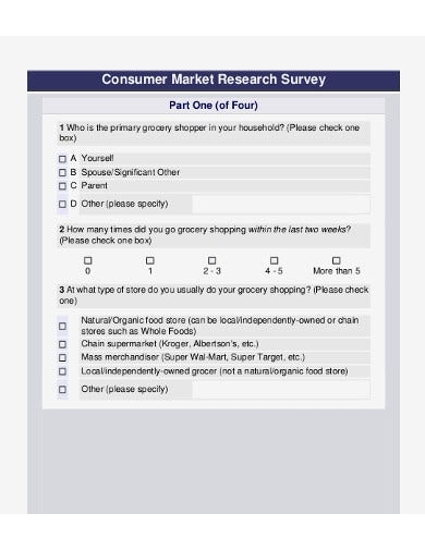 product survey sample example