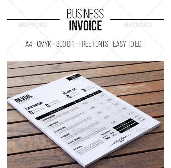 professional business invoice sample1