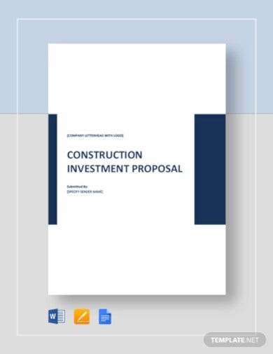 professional construction investment proposal template