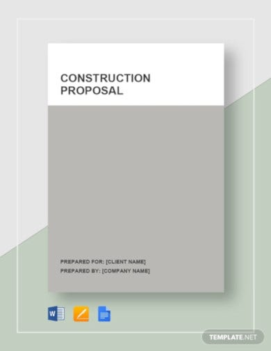 professional construction proposal template