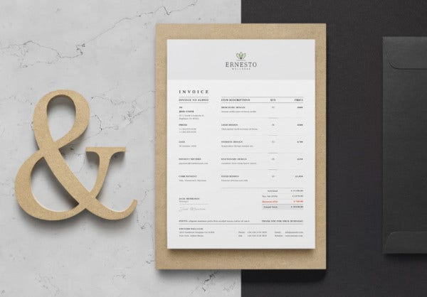 professional creative invoice template