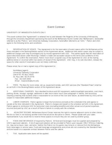 professional-event-contract-template