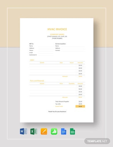 professional hvac invoice template2
